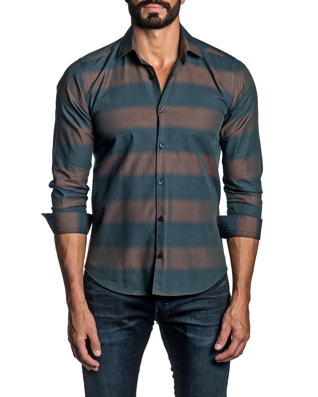 Men's Thick-Stripe Sport Shirt