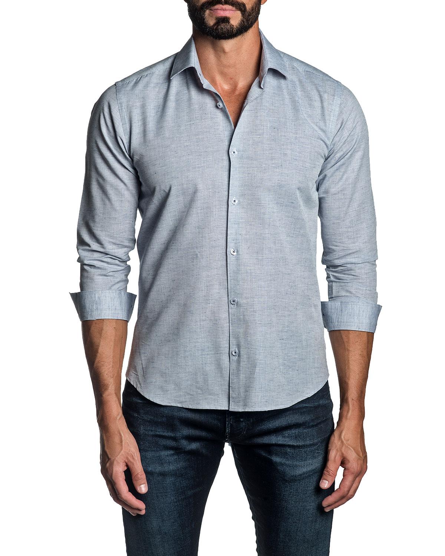 Jared Lang Shirts MEN'S MELANGE SPORT SHIRT