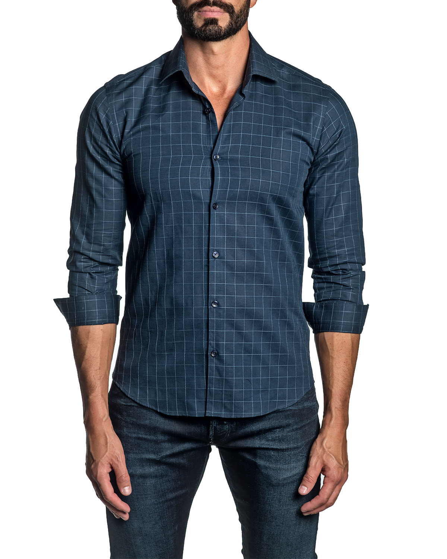 Men's Grid Check Sport Shirt