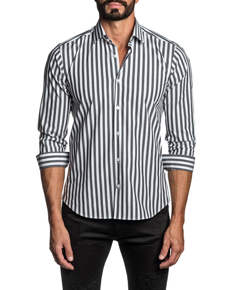 Jared Lang Men's Striped Sport Shirt