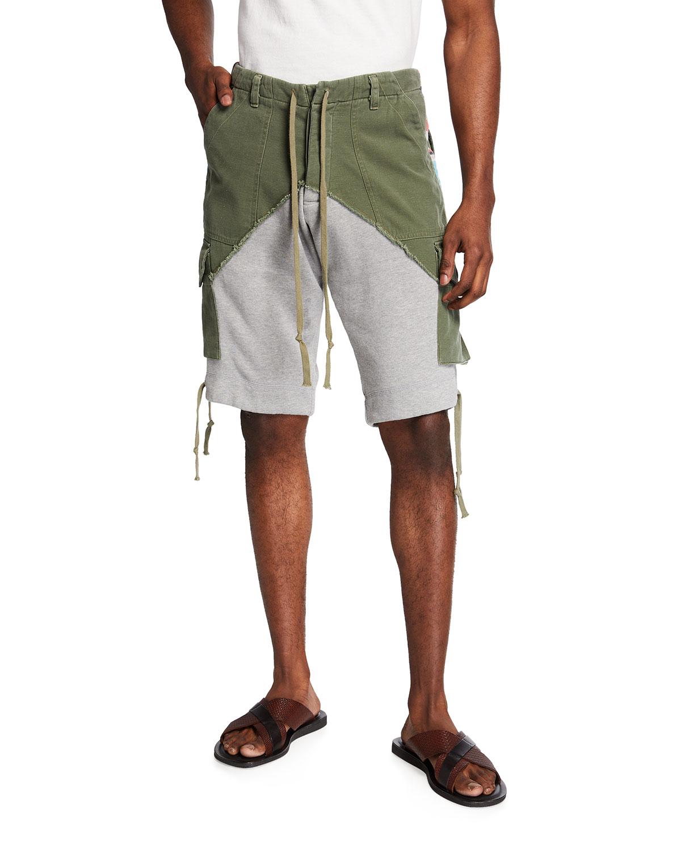 Men's Baker Fleece Dhurri Stripe Cargo Shorts