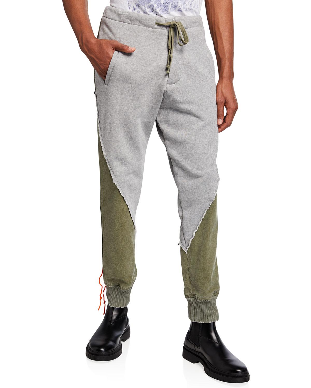 Men's Fleece Tent Stacked Lounge Pants
