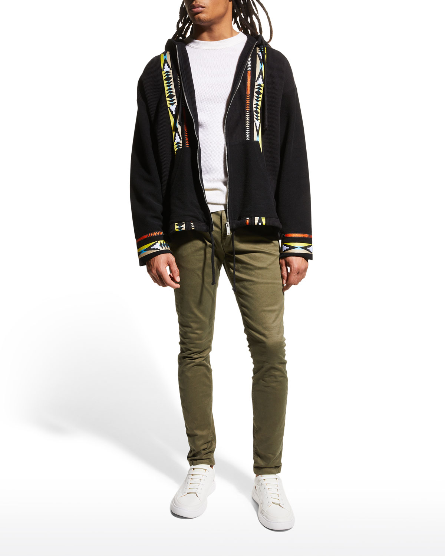 Men's Baja Tape Rib-Knit Hoodie