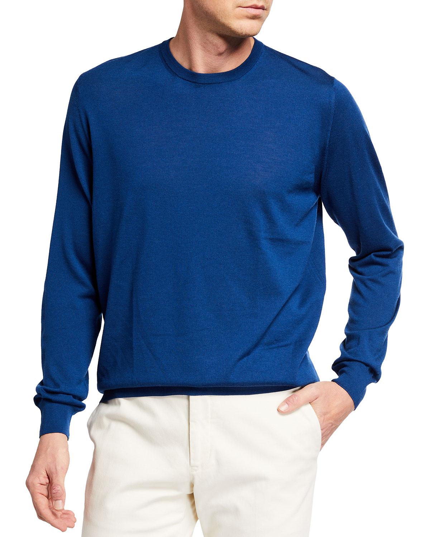 Men's Super 140s Merino Crewneck Sweater
