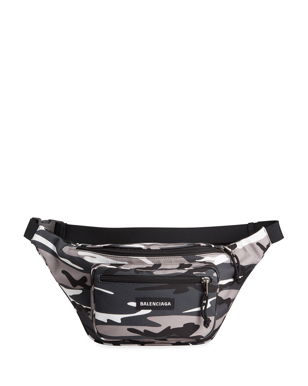 Balenciaga MEN'S EXPLORER CAMO NYLON BELT BAG