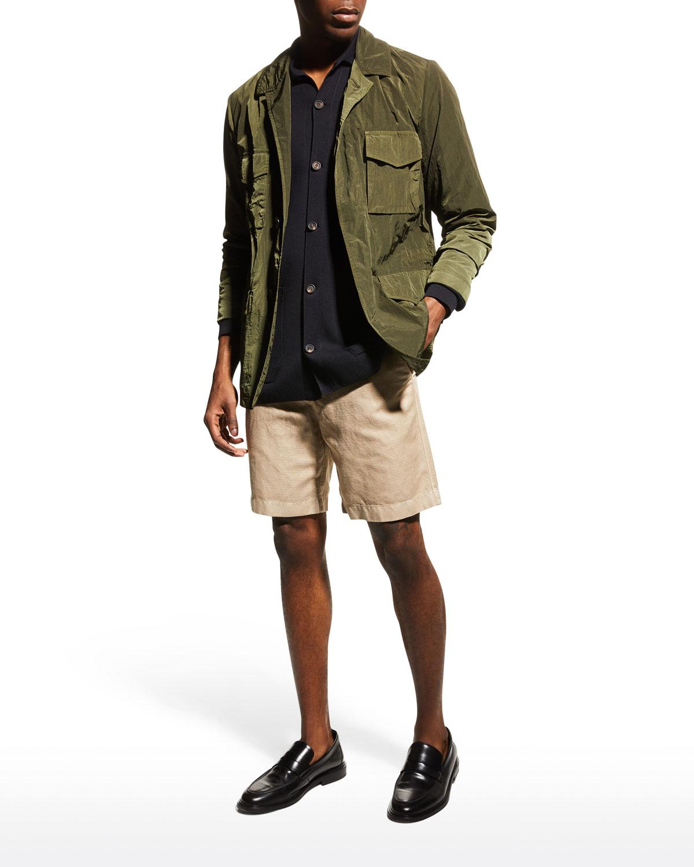 Men's Solid Nylon Field Jacket