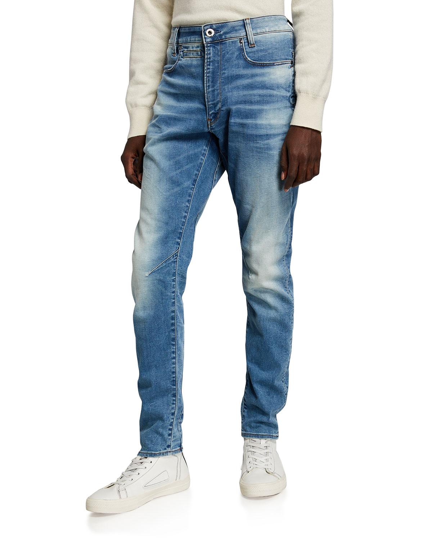 Men's D-Staq 3D Light Wash Slim-Fit Jeans
