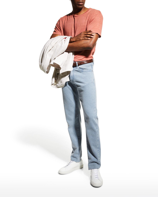 Men's Solid Linen T-Shirt