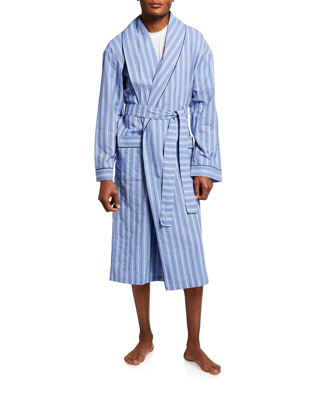 Men's Estate Striped Dobby Shawl Robe