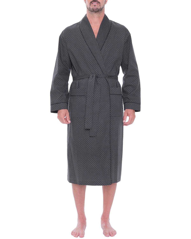 Men's Lightweight Stretch-Cotton Shawl Robe
