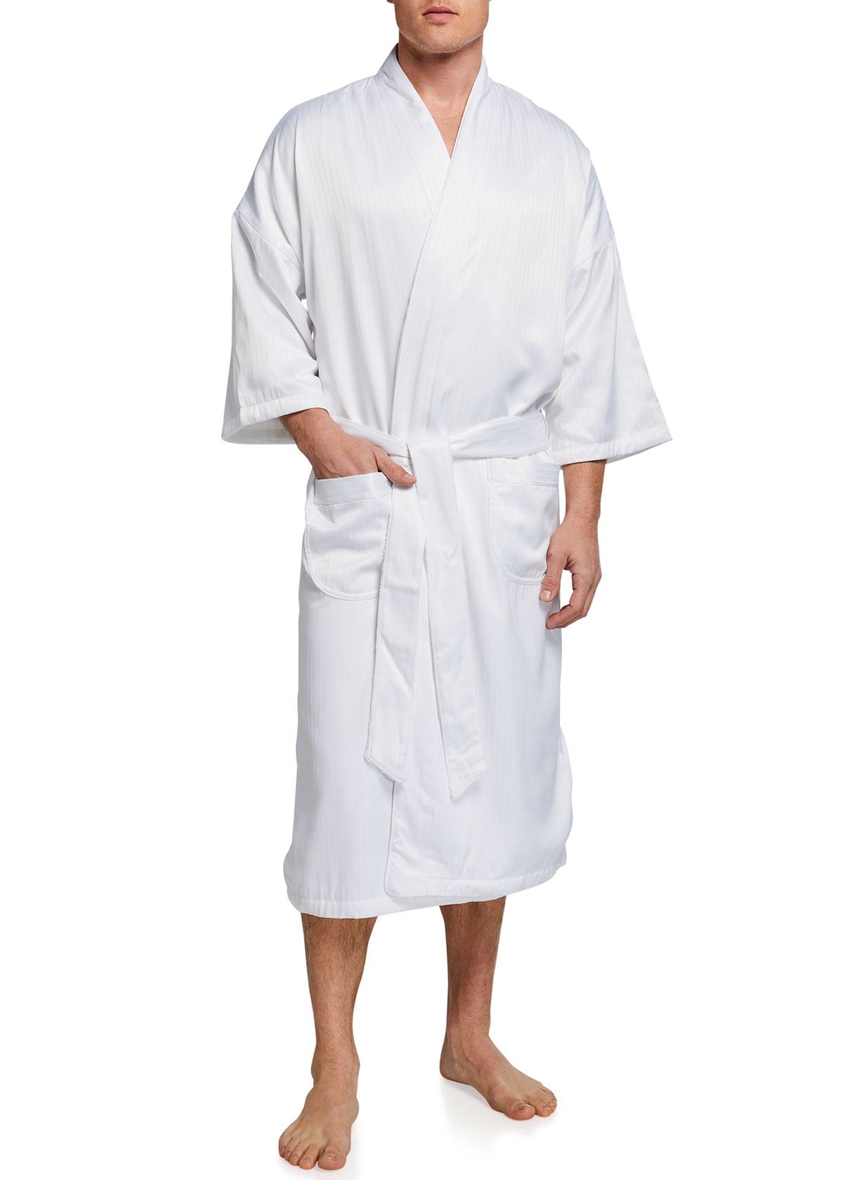 Men's Victoria Plush-Lined Kimono Robe