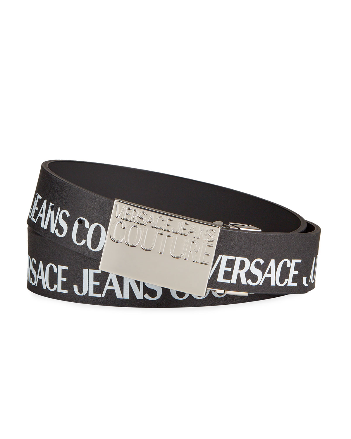 Versace Jeans Couture MEN'S LOGO TAPE REVERSIBLE LEATHER BELT