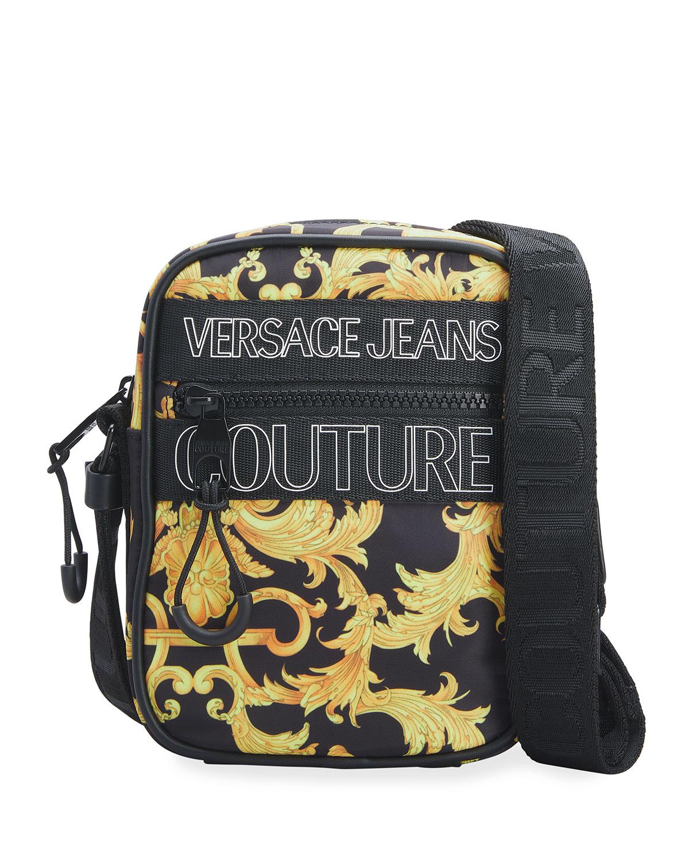 Versace Jeans Couture Crossbody bags MEN'S BAROCCO-PRINT NYLON CAMERA BAG