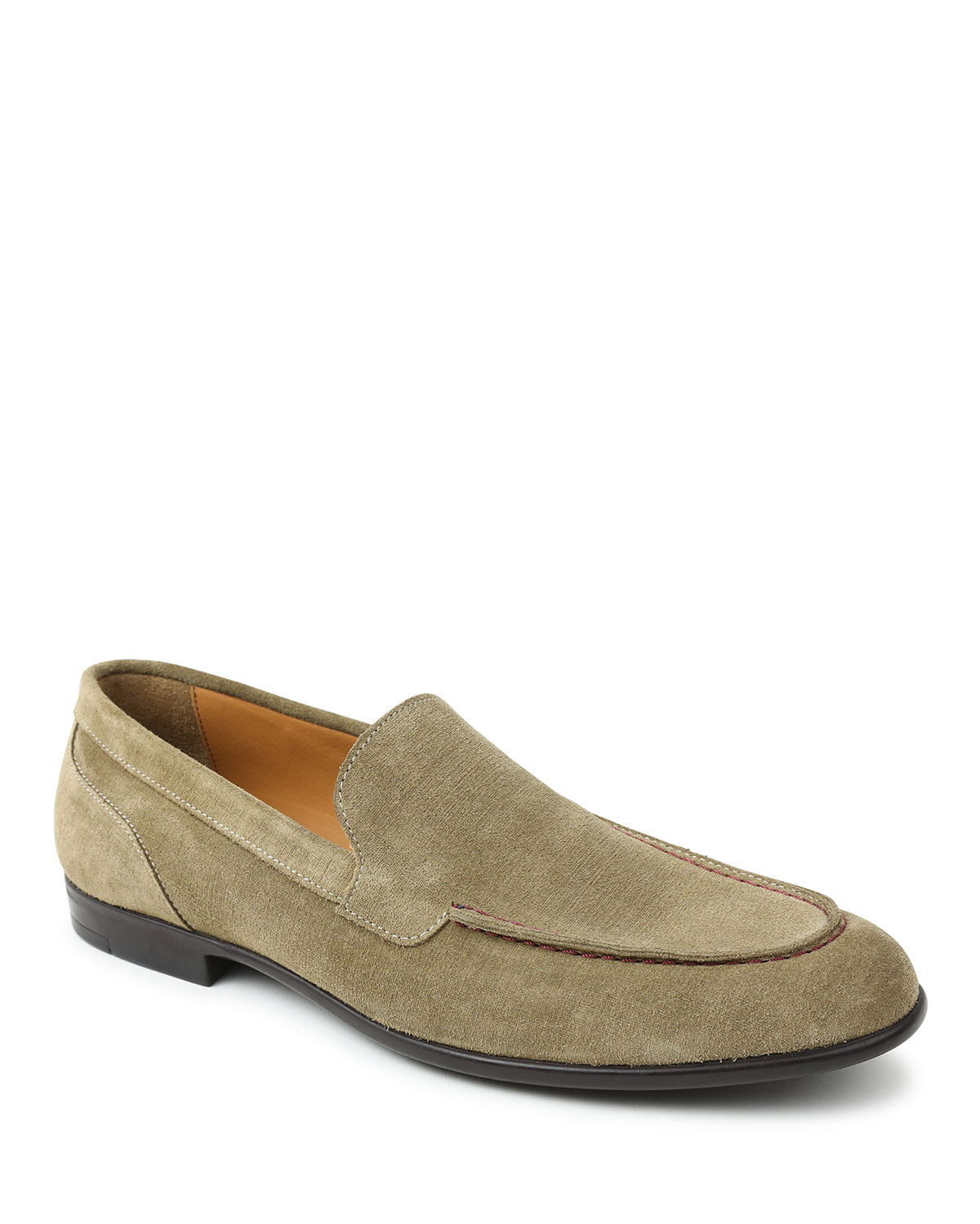 Men's Sino Moc-Toe Suede Loafers