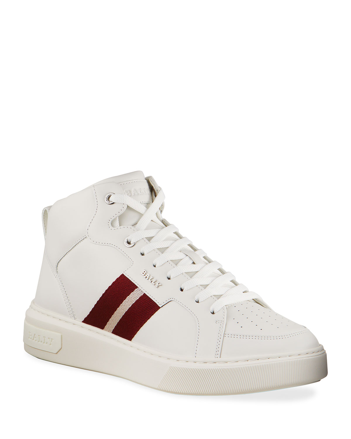 Bally MEN'S MYLES 07 TRAINSPOTTING LEATHER HIGH-TOP SNEAKERS
