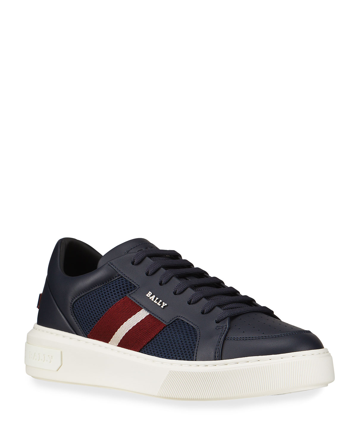 Bally MEN'S MELYST 29 TRAINSPOTTING MESH & LEATHER LOW-TOP SNEAKERS