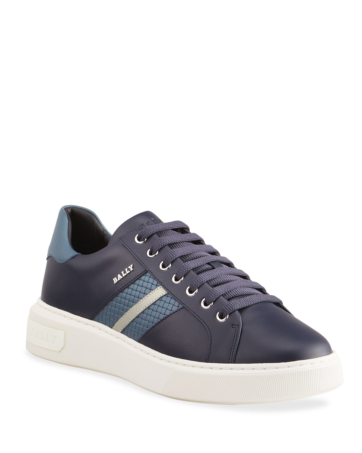 Bally MEN'S MARCUSI 29 WOVEN TRAINSPOTTING LEATHER LOW-TOP SNEAKERS