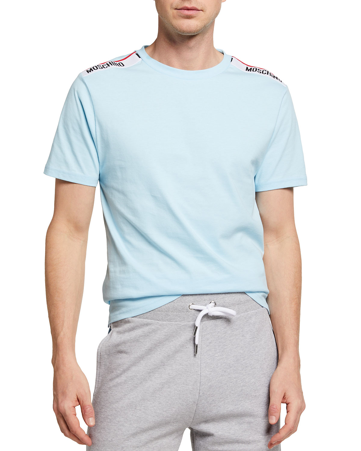 Moschino MEN'S T-SHIRT WITH SHOULDER TAPING
