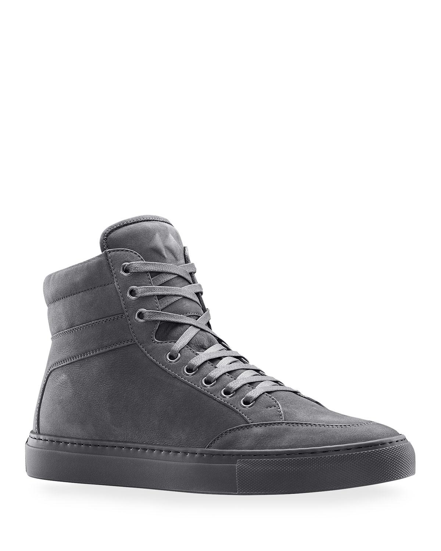 Men's Primo Tonal Suede High-Top Sneakers