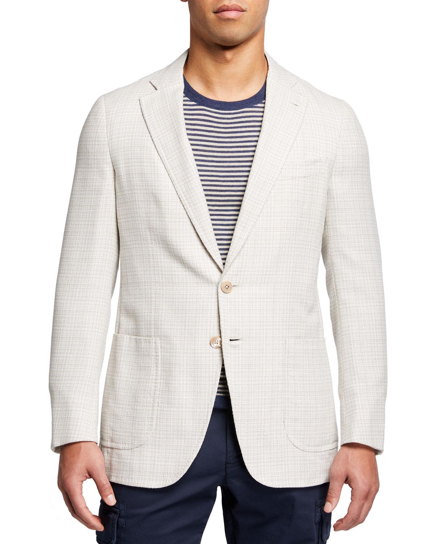 Men's Boucle Two-Button Blazer