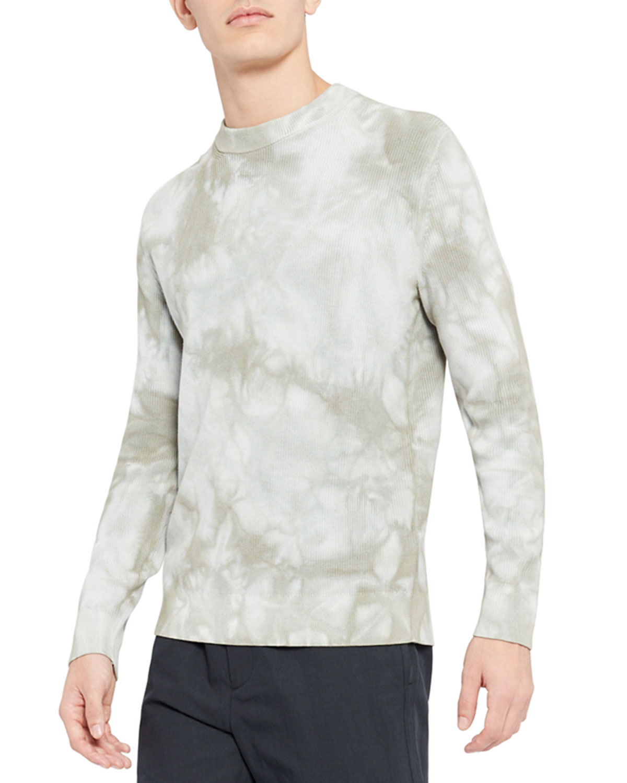 Men's Mercerized Tie-Dye Crewneck Sweater
