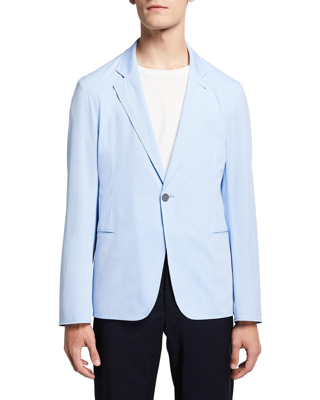Men's Striped Travel Soft Jacket