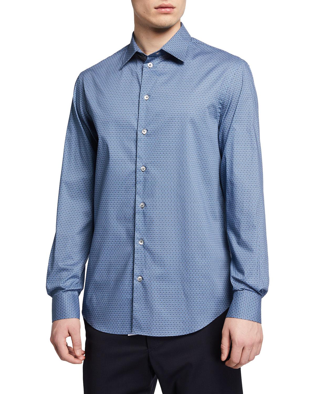 Men's Mini Dot-Print Sport Shirt
