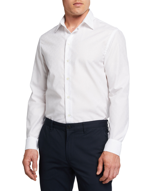 Men's Tonal Geo-Print Sport Shirt