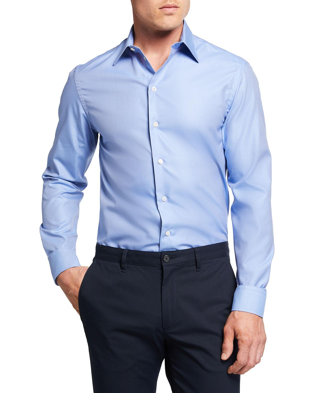 Men's Cotton Long-Sleeve Sport Shirt