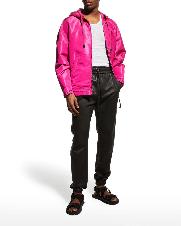 Men's Heavy Silk Hooded Jacket