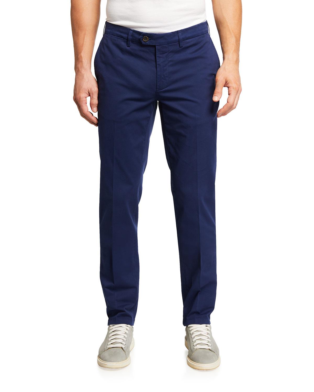 Men's Straight-Leg Cotton Pants