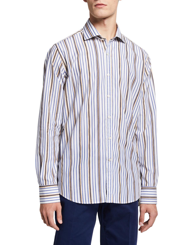 Men's Painted-Stripe Sport Shirt