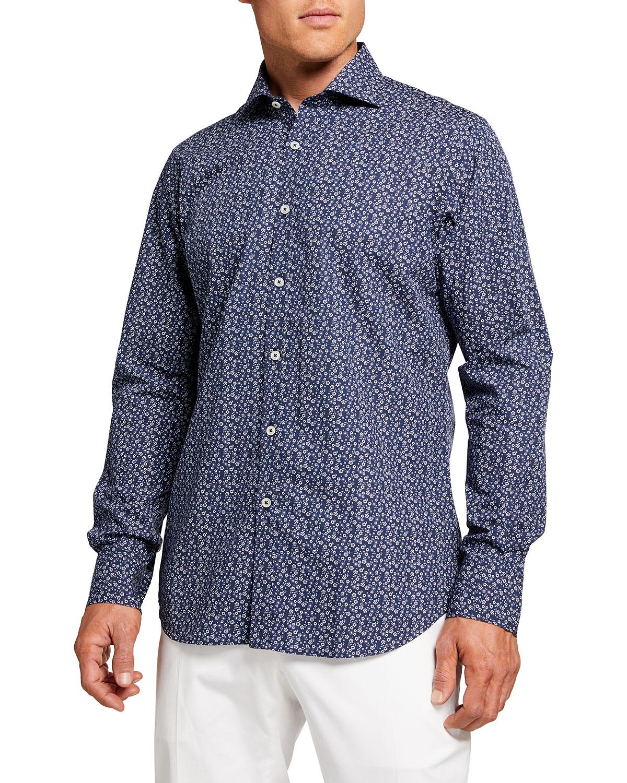 Men's Mini Floral Sport Shirt
