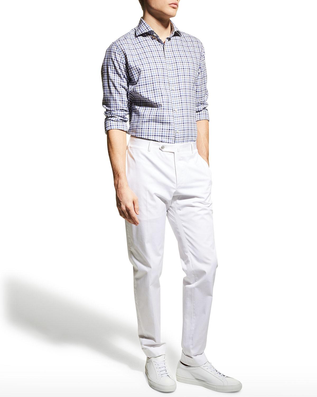 Men's Cotton Check Sport Shirt