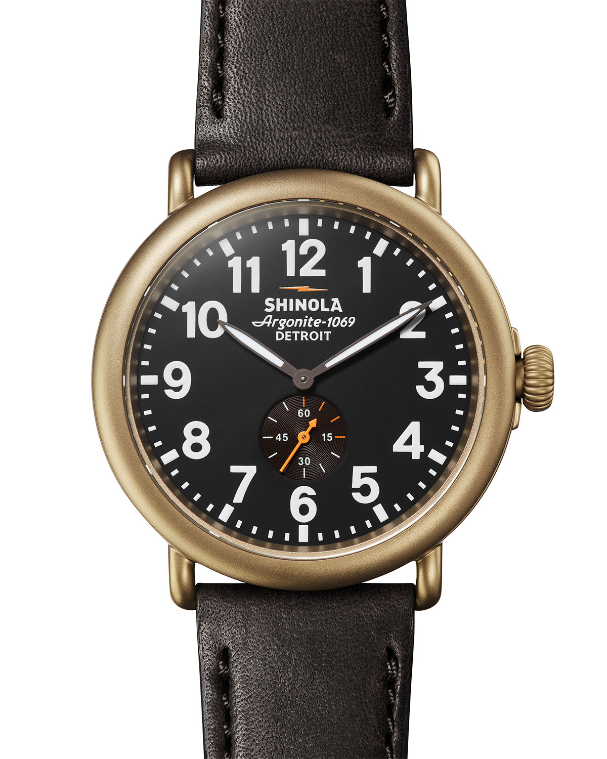 Shinola MEN'S 47MM RUNWELL SUB-SECOND WATCH WITH LEATHER STRAP