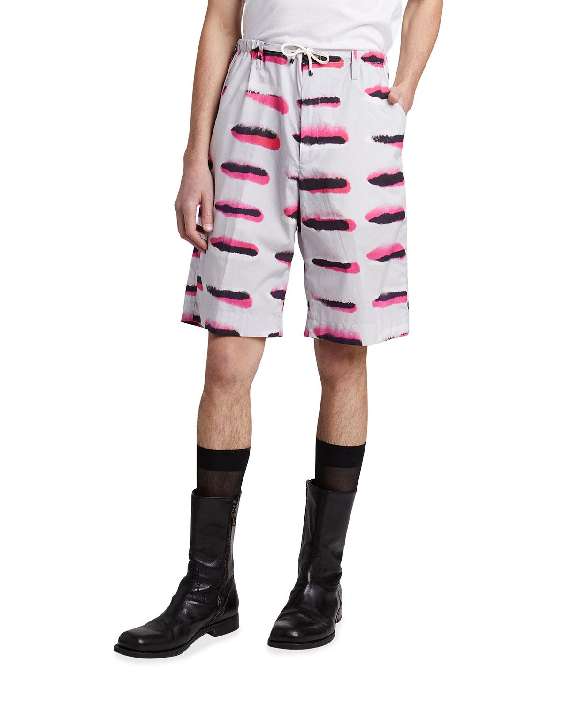 Men's Allover-Print Drawstring Shorts