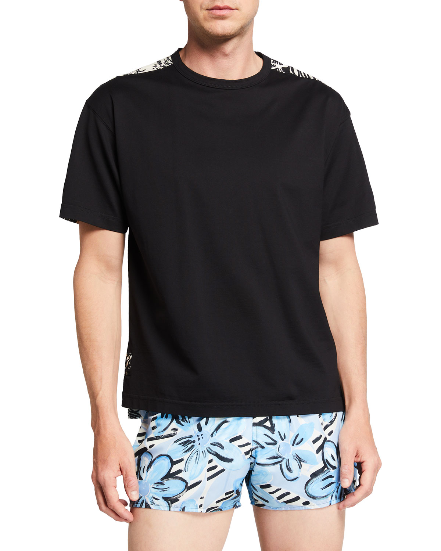 Men's Printed-Back Cotton T-Shirt