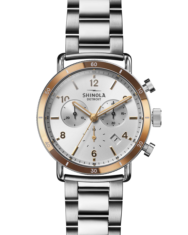 Men's 40mm Canfield Sport Chronograph Bracelet Watch