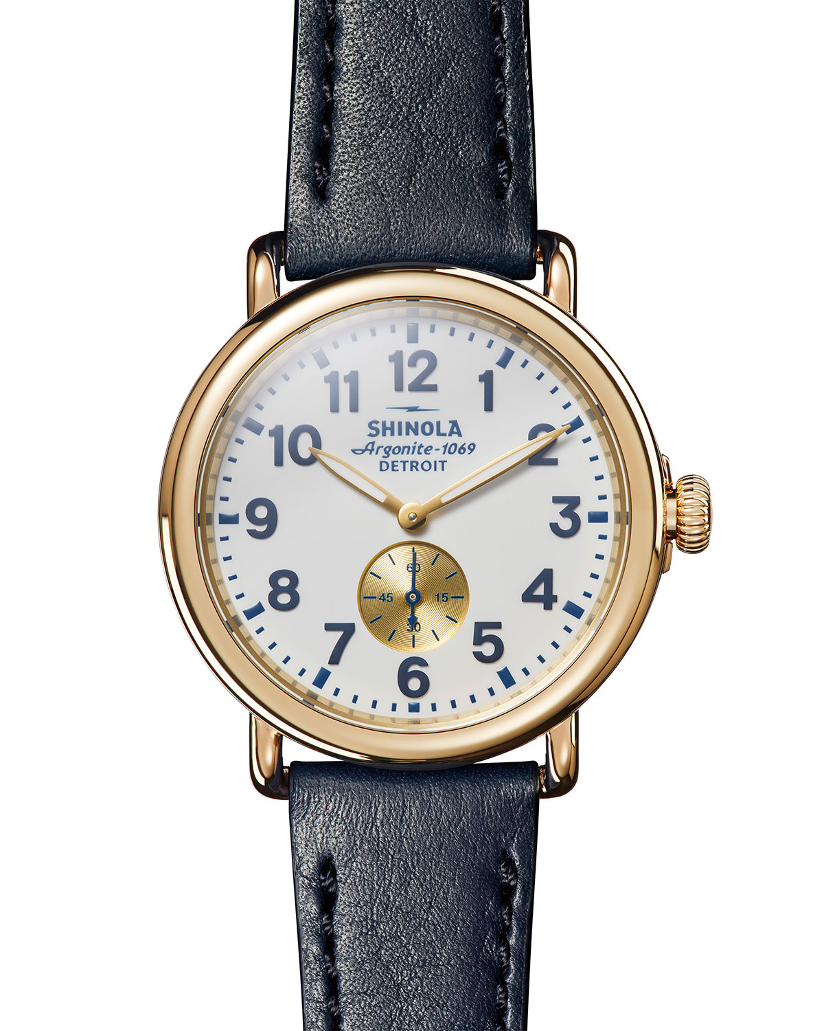 Men's 41mm Runwell Sub-Second Leather Watch