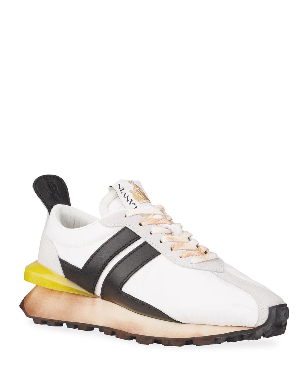 Men's Nylon Bumper Runner Sneakers