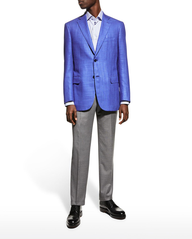 Men's Textured Two-Button Sport Jacket