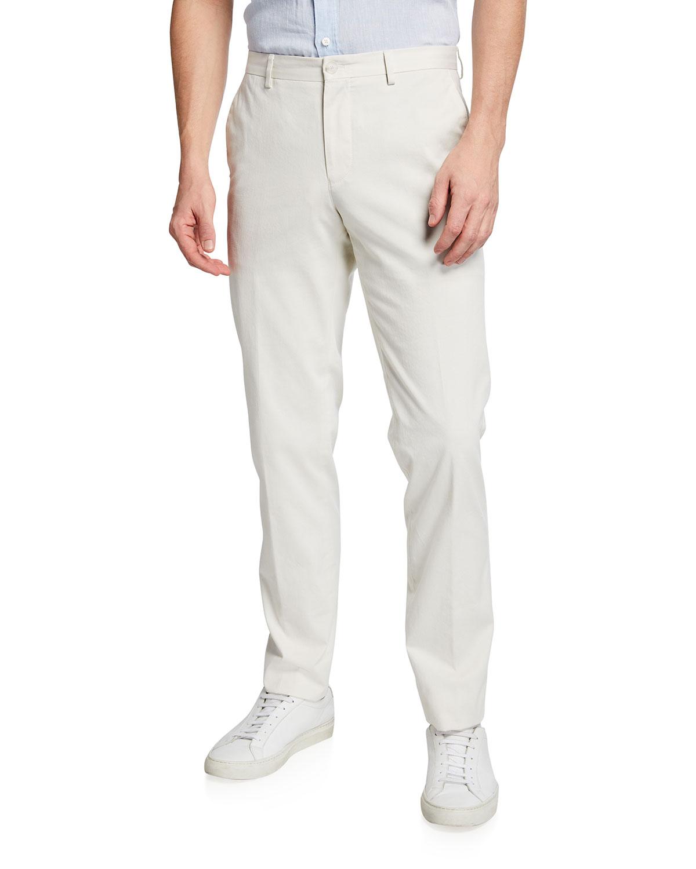 Men's Solid Cotton Pants