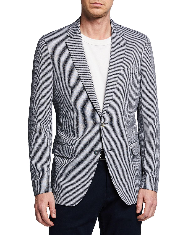 Men's Vertical Stripe Sport Jacket