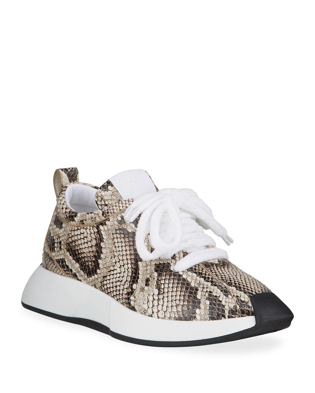 Men's Omnia Snake-Embossed Sneakers