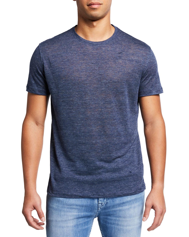 Men's Heathered Linen T-Shirt