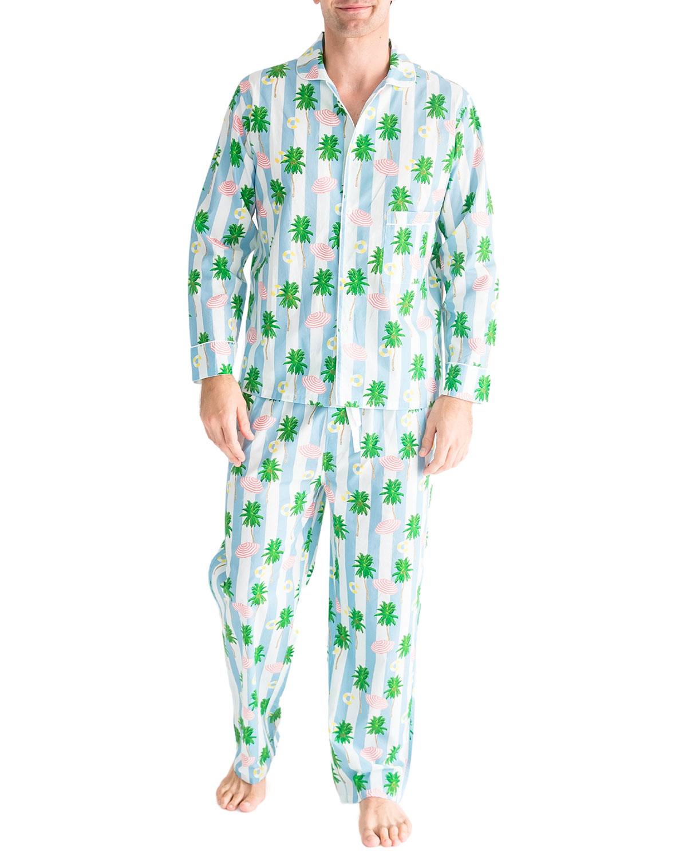 Men's x Gray Malin Beach-Print Pajama Set