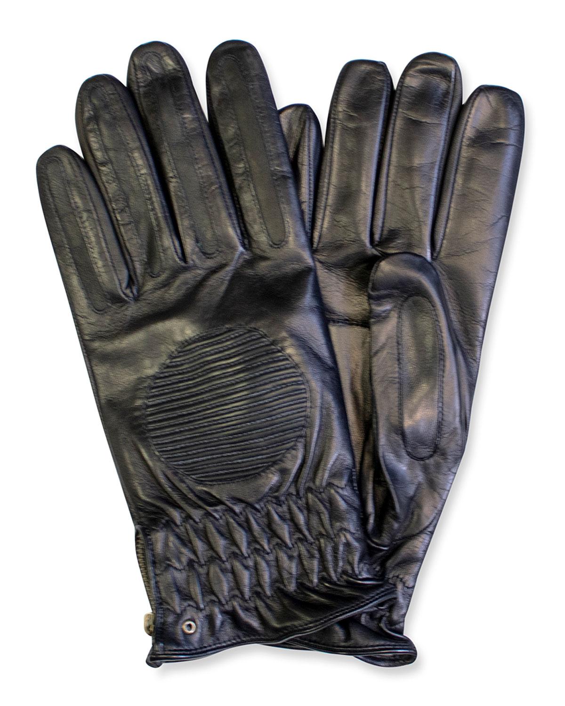 Men's Side-Zip Napa Leather Gloves