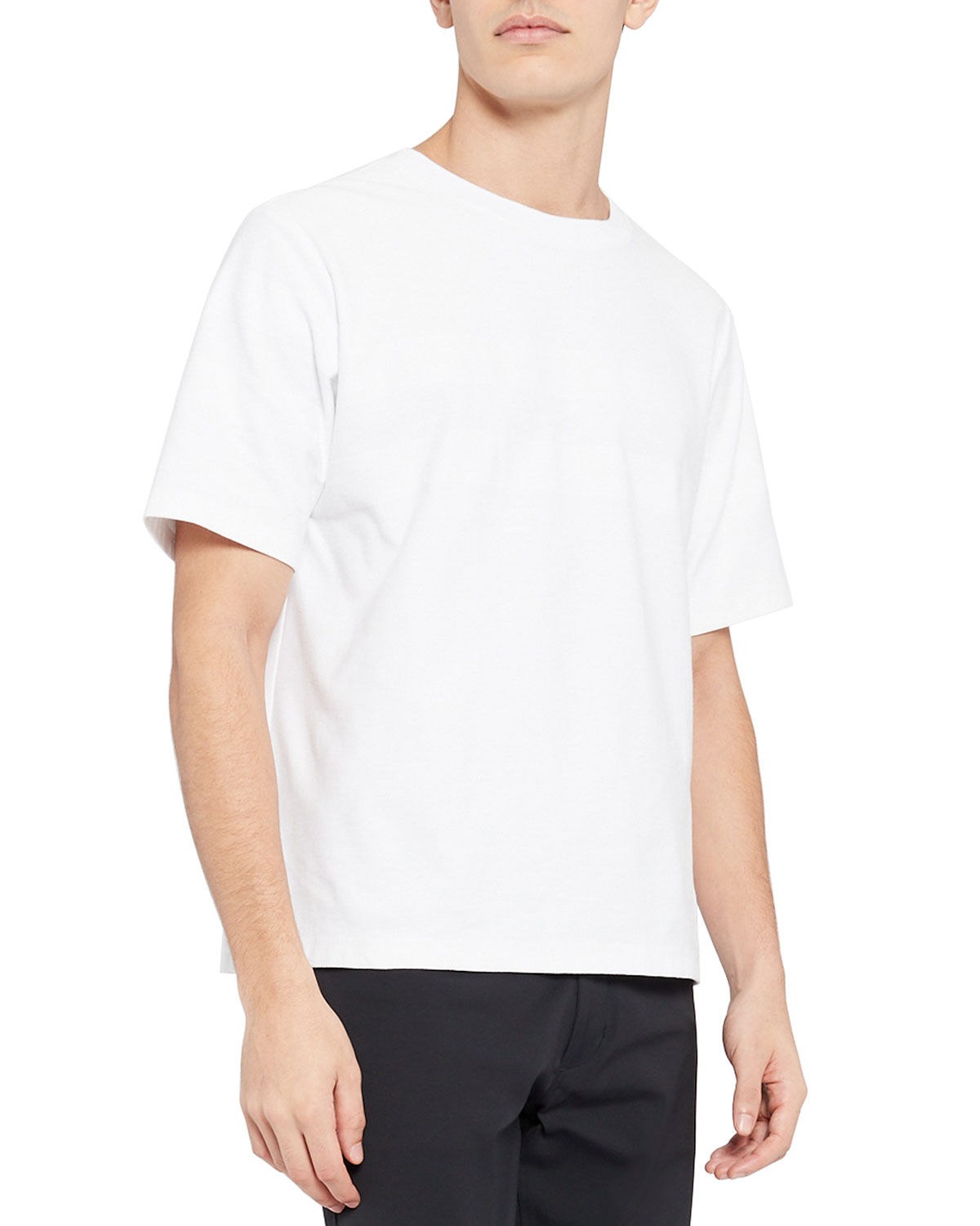 Theory MEN'S CASEY SOLID COTTON SHORT-SLEEVE SHIRT