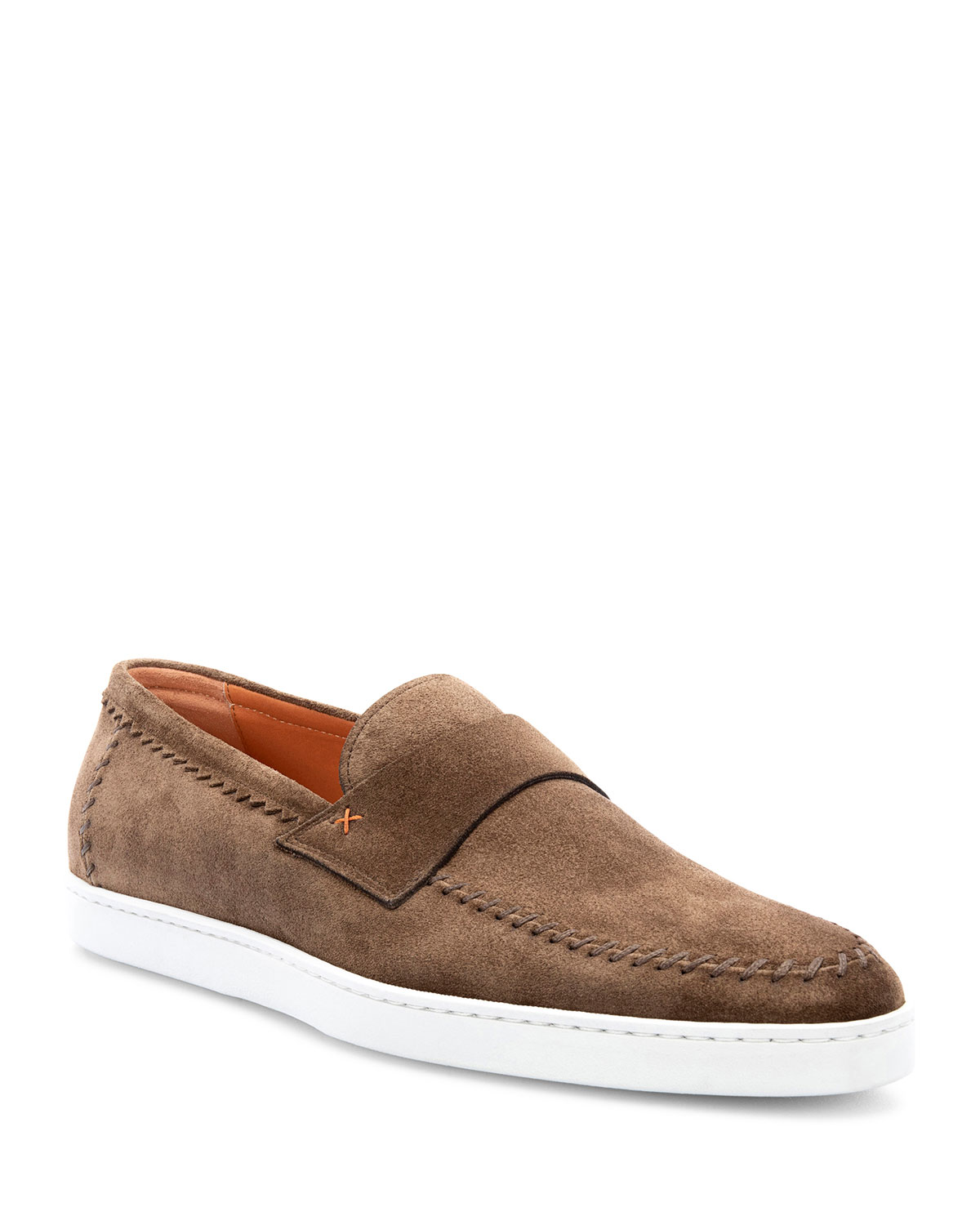 Men's Banker Stitched Suede Loafers