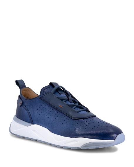 Santoni Men's BOL Perforated Leather Sneakers